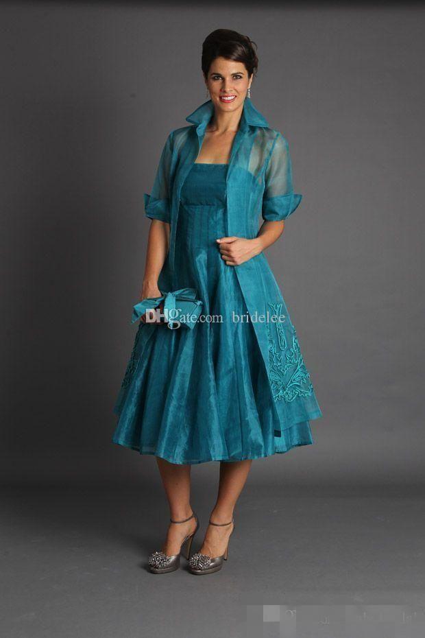 Plus Size 2017 Short Mother of The Bride Jacket Dresses Sleeveless ...