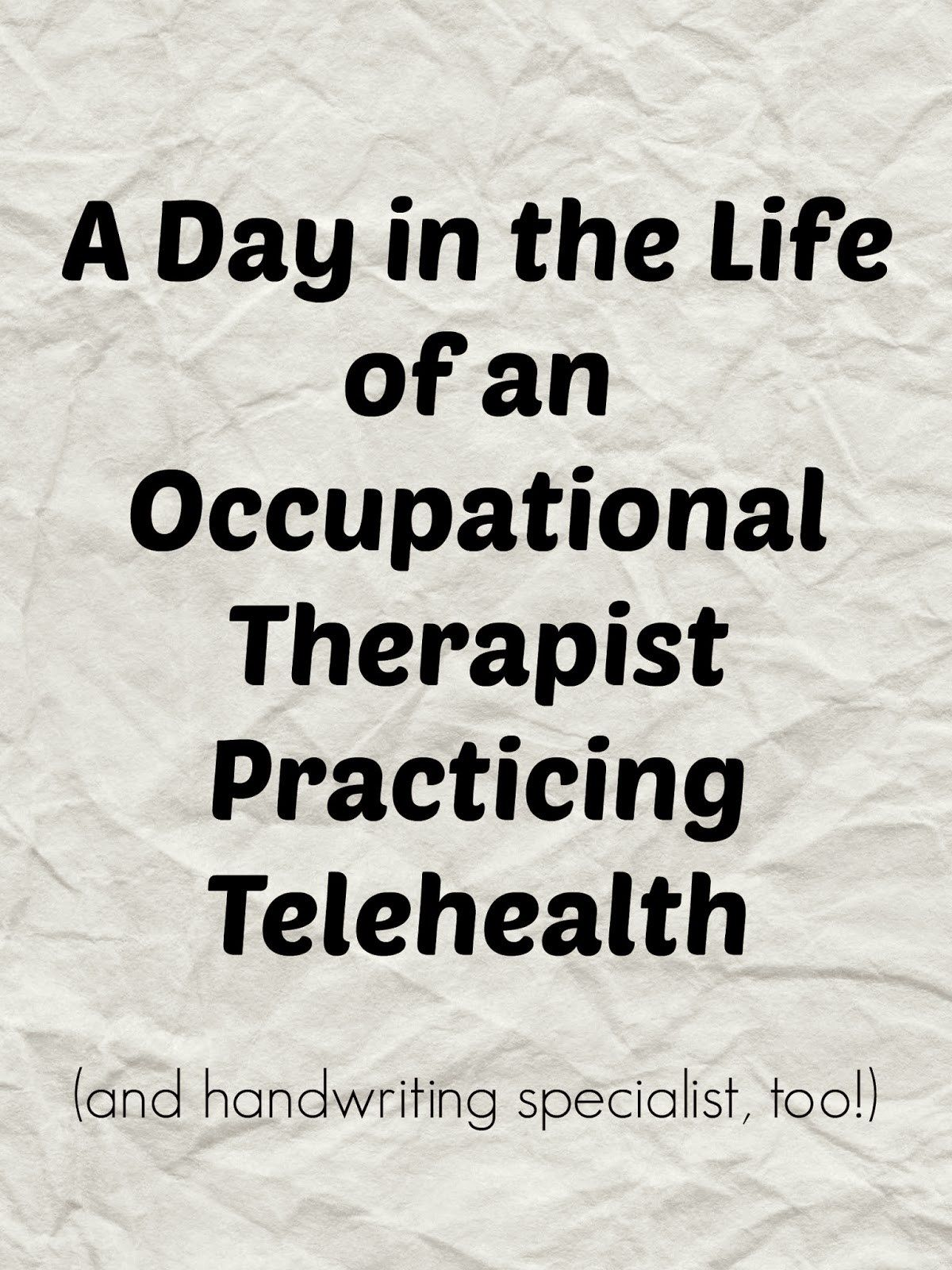 Telehealth In Occupational Therapy Practice Part 2 Start