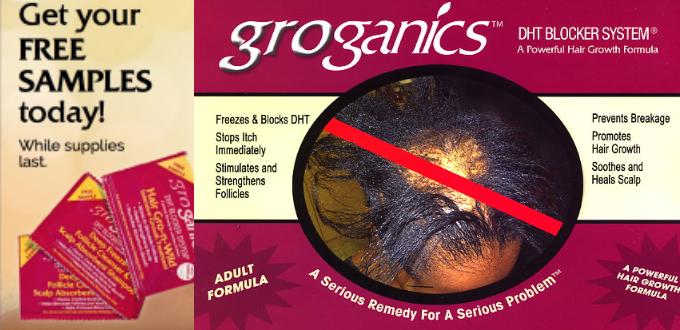 Groganics DHT Blocker System FREE SAMPLE - Regrow Hair