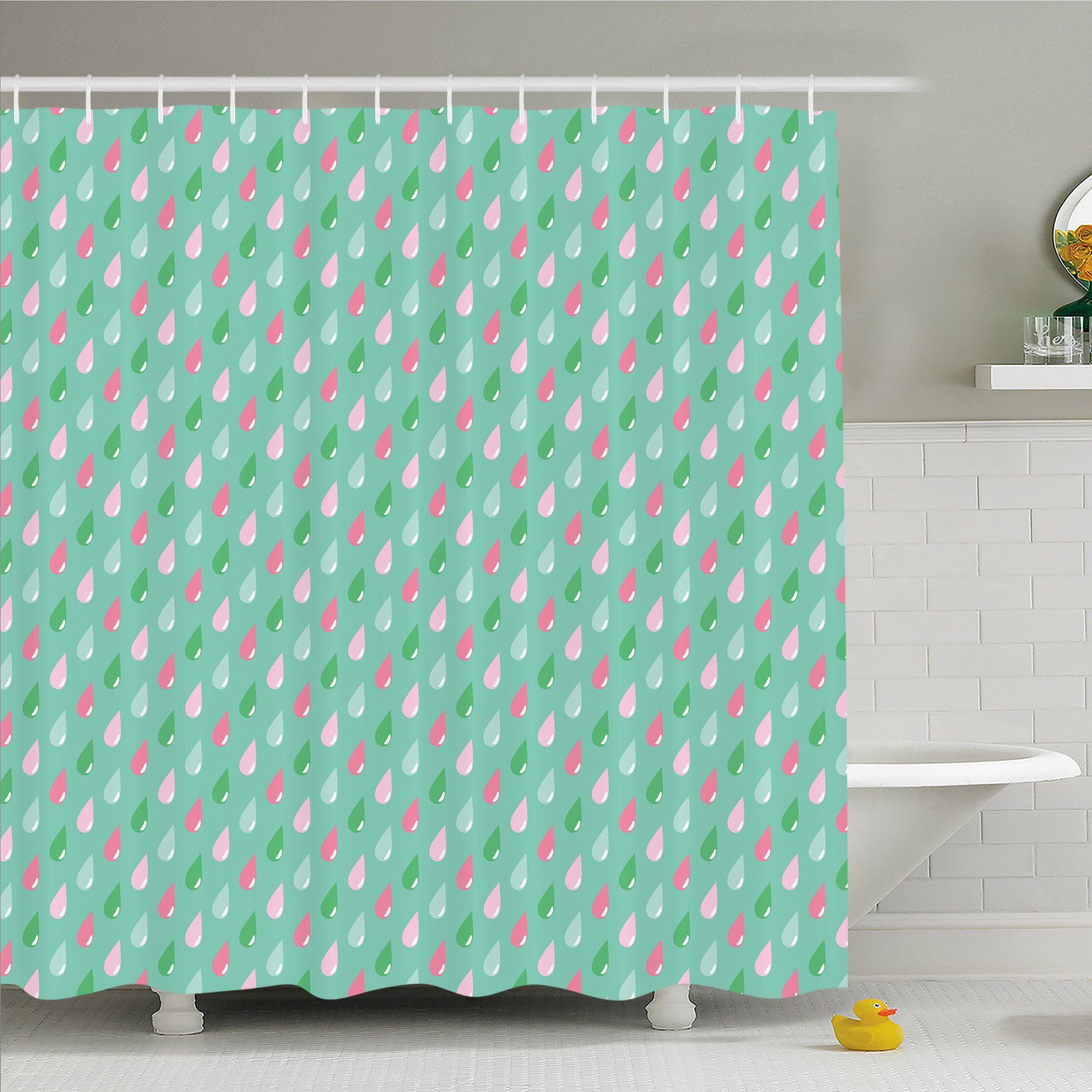 Home funny teardrops rain shower children image shower curtain set