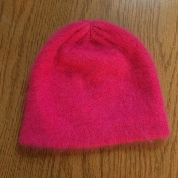 Pink angora wool blend hat Pink angora hat worn a few times -perfect condition. GAP Accessories Hats