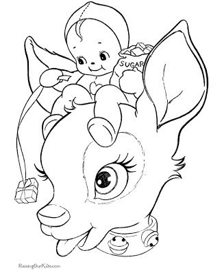 Printable Santa Face   reindeer face Colouring Pages (page 2 ...