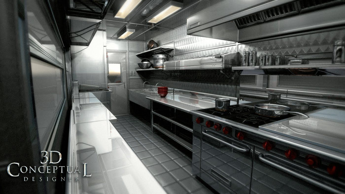 Food truck interior design interior of the final kitchen for Food truck interior design