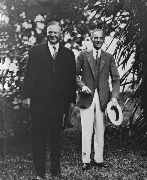 Henry Ford With President Hoover