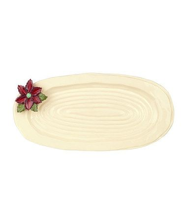 Loving this Holly Ceramic Oval Platter on #zulily! #zulilyfinds
