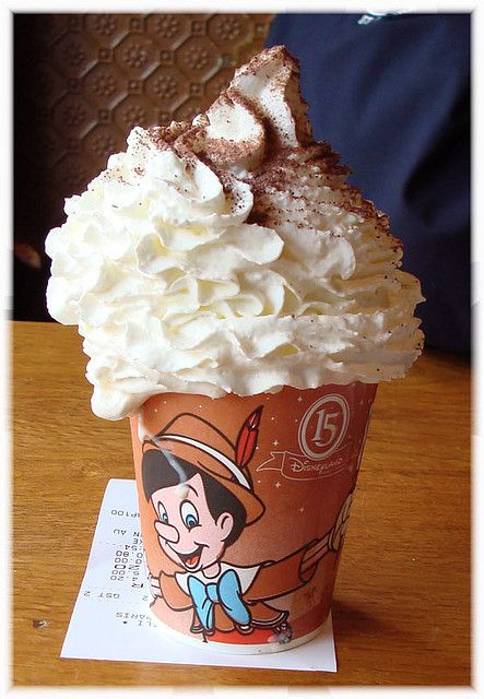 28. As a mid afternoon break we'd warm our little hands up with this yummy festive looking hot chocolate!