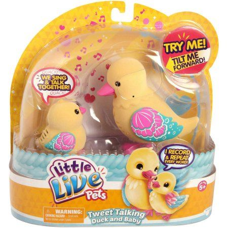 Moose Toys Little Live Pets S4 Tweet Talking Duck And Baby Asst Walmart Com Little Live Pets Moose Toys Toys For Girls