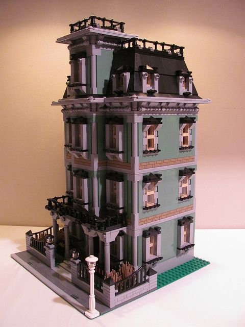 Lego Un Haunted House Modular Building Lego Building Drawing