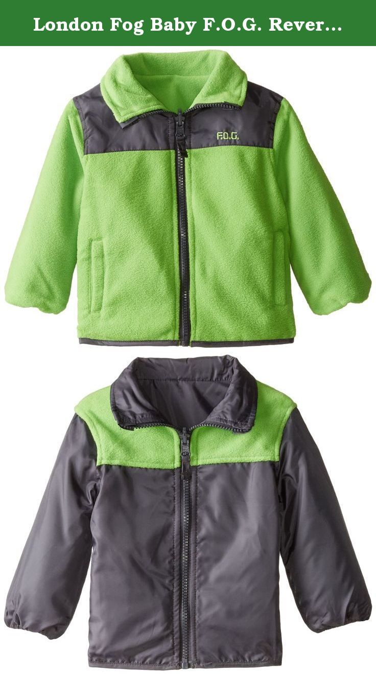 LONDON FOG Baby Boys Reversible Fleece to Poly Jacket