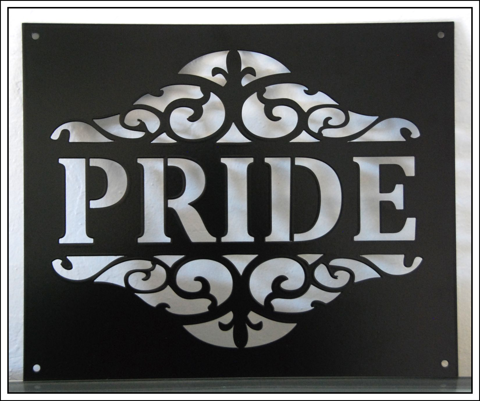 Laser Cut Metal Signs >> Made With Pride Custom Laser Cut Metal Signs In Hollister Ca
