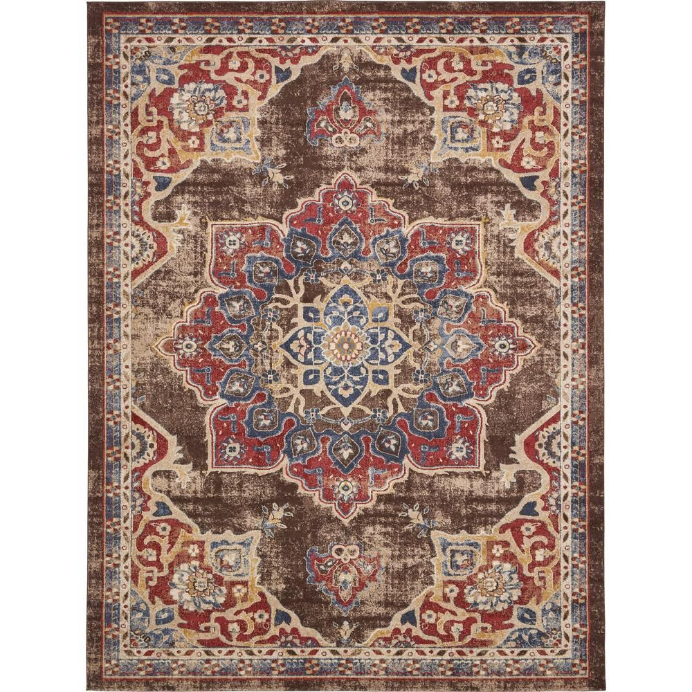 Unique Loom Utopia Helios Chocolate Brown 9 0 X 12 0 Area Rug Area Rugs Rugs Blue Area Rugs
