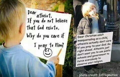 Perfect response. #pray #atheist #atheism