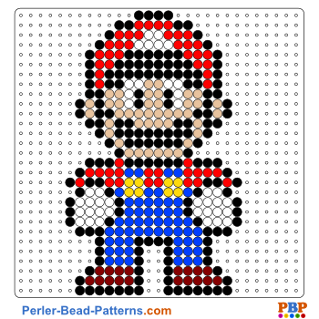 Super Mario perler bead pattern. Download a great collection of