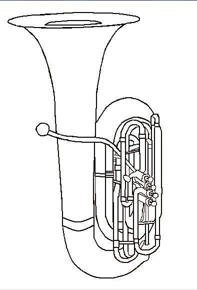 Dibujos Dibujos Musicales Tuba Instrumentos Musicales
