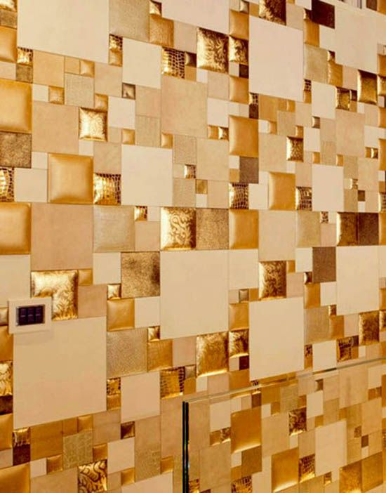 Leather Wall Tiles and Decorative Paneling Adding Chic Wall Designs ...