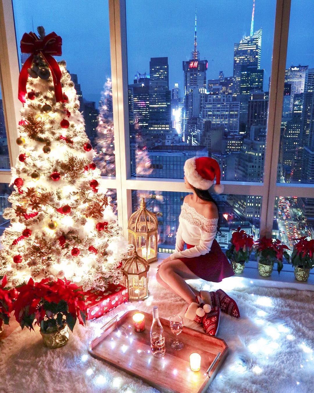 Instagram @ofleatherandlace | Christmas tree decor, christmas tree ...