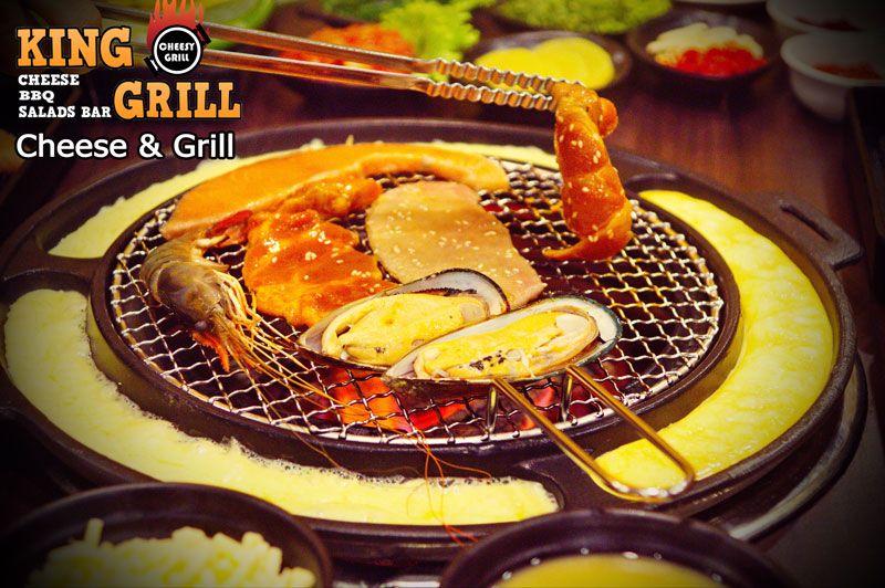 Cheesy Korean Bbq Restaurant King Grill Samyan Bangkok
