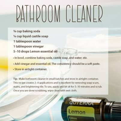 Merveilleux DoTERRA DIY Bathroom Cleaner Recipe   Best Essential Oils