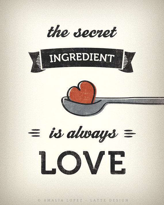 10 Kitchen And Home Decor Items Every 20 Something Needs: The Secret Ingredient Is Always Love. Kitchen Art от