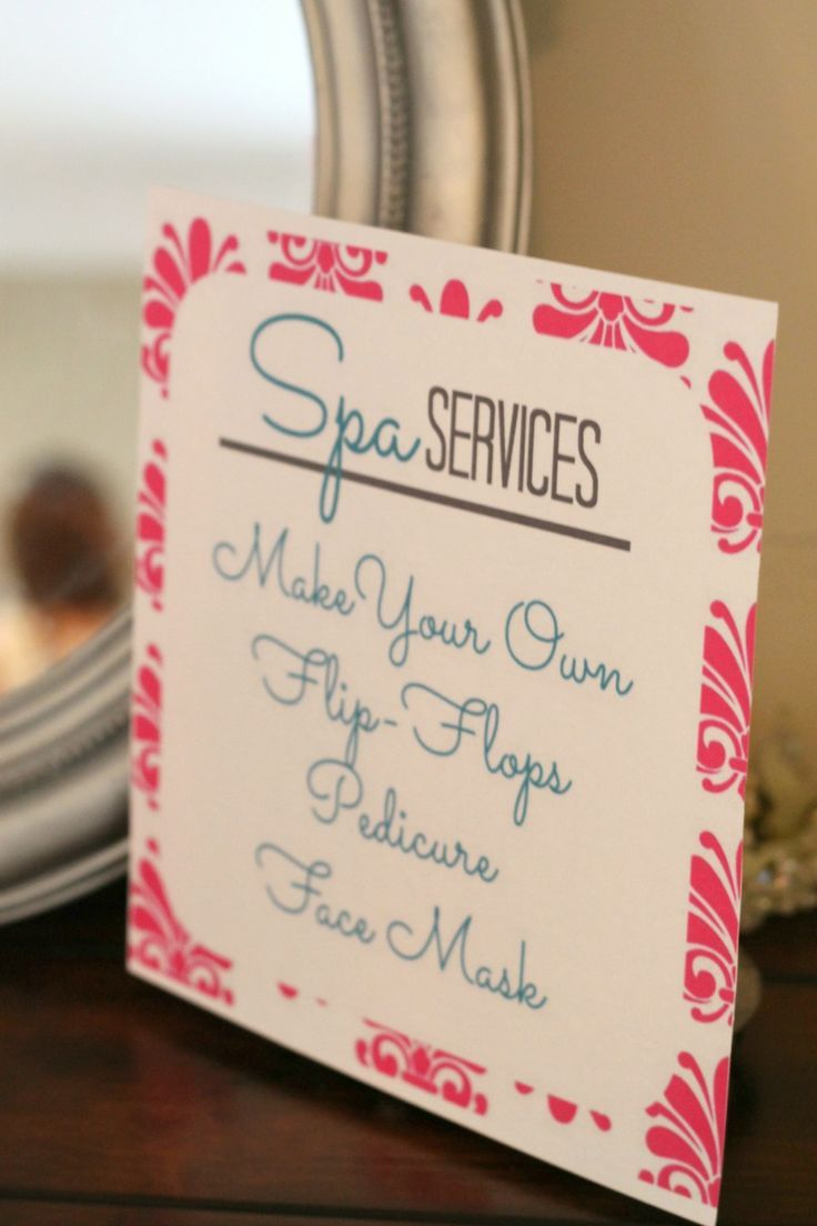 Home | Birthday Ideas | Pinterest | Spa services, Spa party and Girl ...