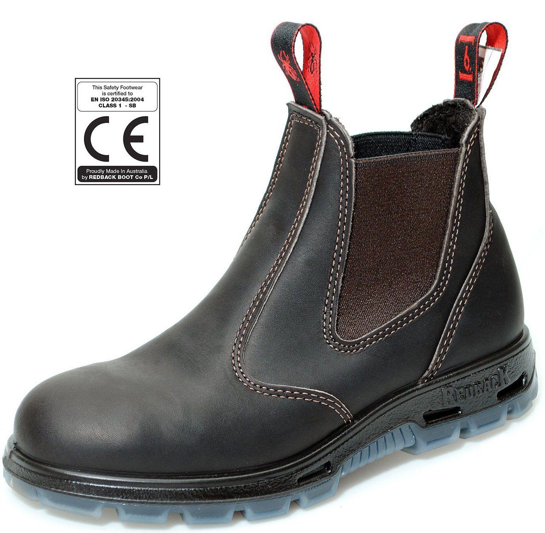 Redback USBBK Chelsea Boots mit Stahlkappe Black aus Australien: Amazon.de:  Schuhe &