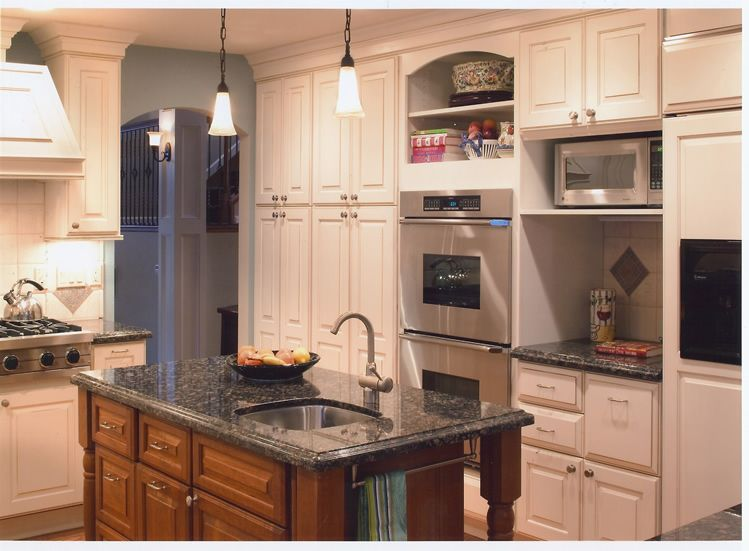 Full Overlay Cabinets That Reach To The Ceiling With A