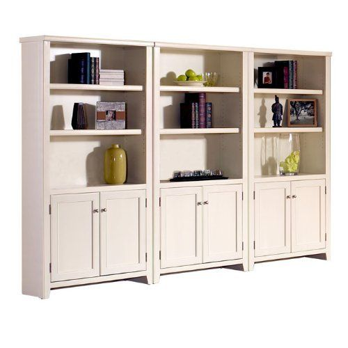 Tribeca Loft White Bookcase Wall With Doors Eggshell White By Martin Furniture 1750 00 One Fixed Shelf And Three Adjustable Shelve Martin Furniture Loft Wall Bookcase