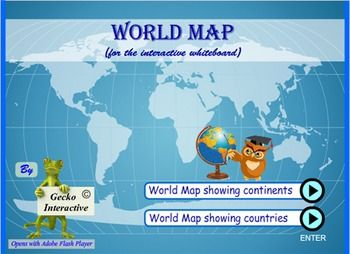 World map for the interactive smartboard and whiteboard school world map for the interactive smartboard and whiteboard gumiabroncs Images