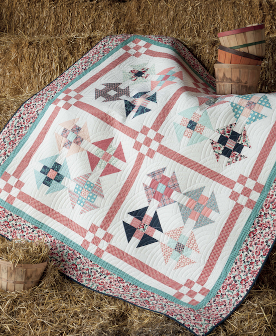 MessyJesse: Vintage Vibe Book Tour, Churn Dash quilt, lovely.