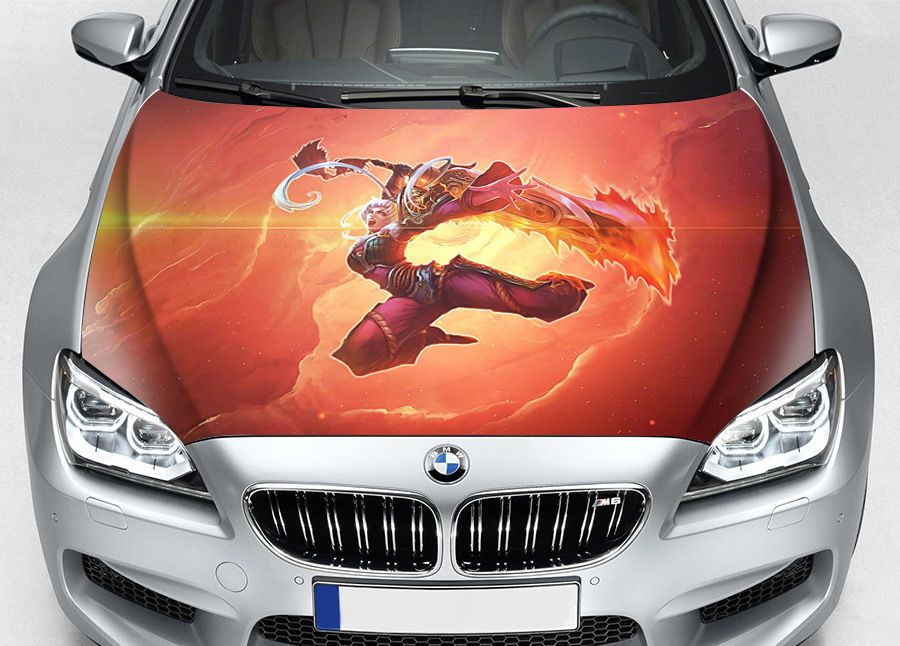 Details about League of Legends Riven Car Hood Wrap Full
