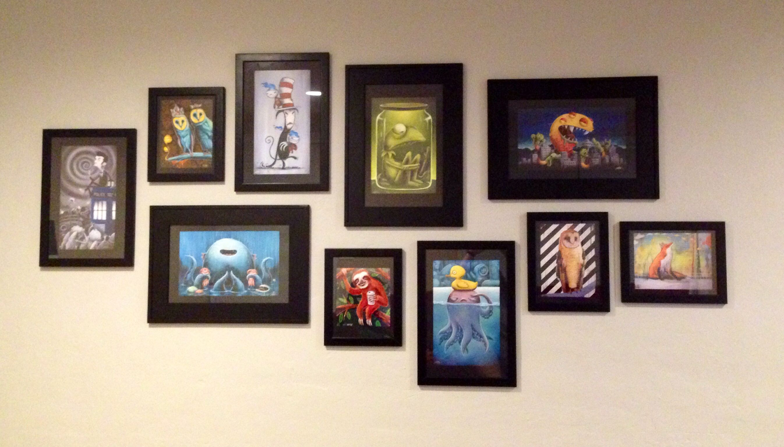 My First Gallery Art Wall All Prints Are By Local