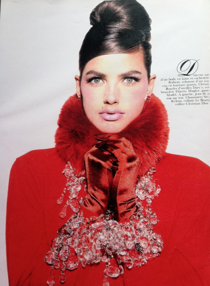 Madame Figaro 1990s. Red Glamour