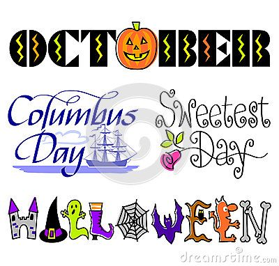 Free Clip Art Columbus Day October Holidays Including Halloween Columbus Day And Sweetest Day Happy Columbus Day Clip Art October Activities