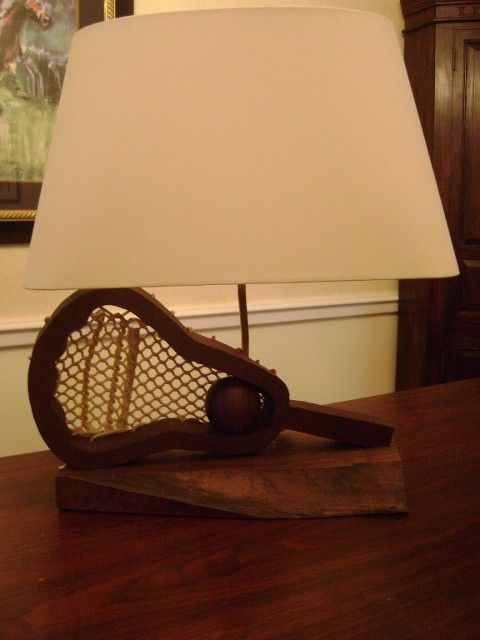 Custom Lamps You Will See A Lacrosse Stick Here But
