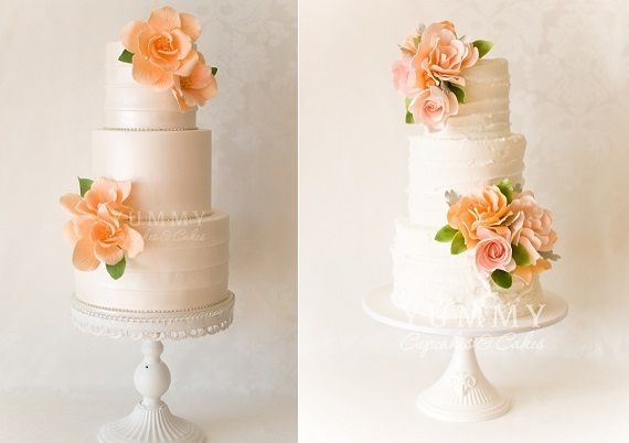 Peach Wedding Cakes By Yummy Cupcakes And Sydney