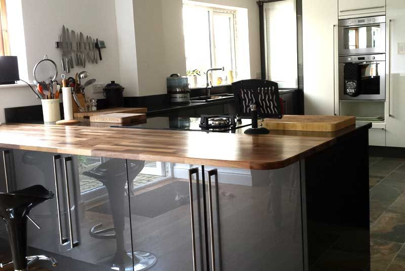 An Innova Altino Graphite High Gloss Kitchen   High gloss ...