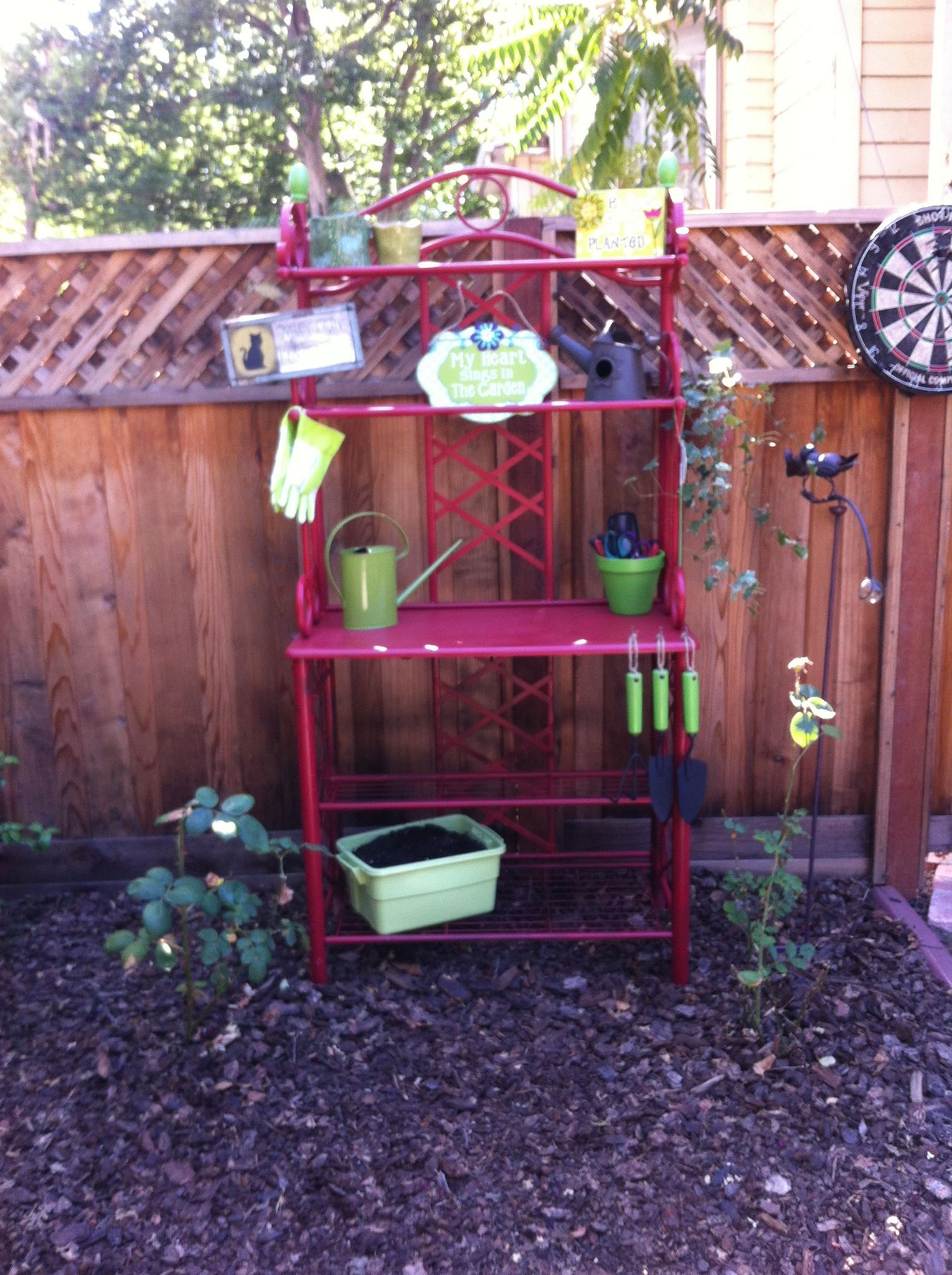 Potting Bench Started Out In Life As A Baker S Rack Upcycled