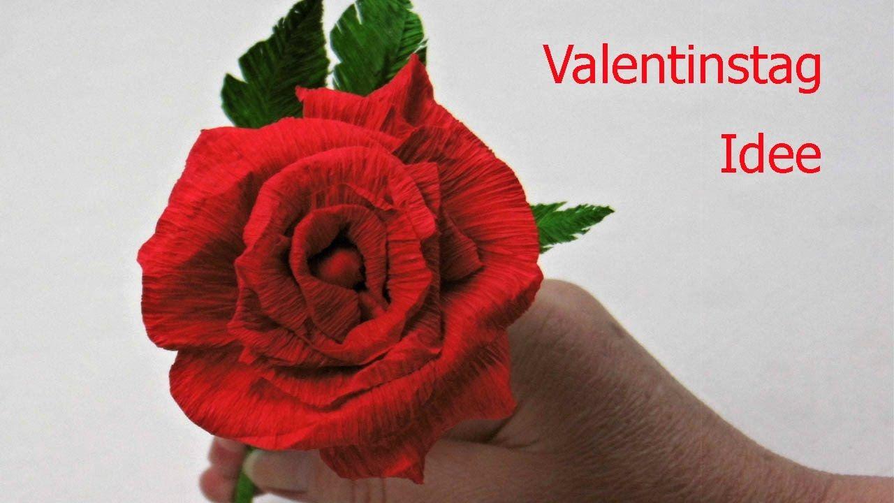 Diy Valentinstag Geschenk ❁ Rose Aus Krepppapier Basteln ❁ Deko Ideen Mi.