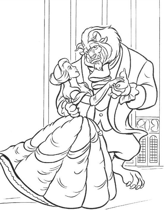 Printable Disney Beauty And The Beast Coloring Pages For Kids