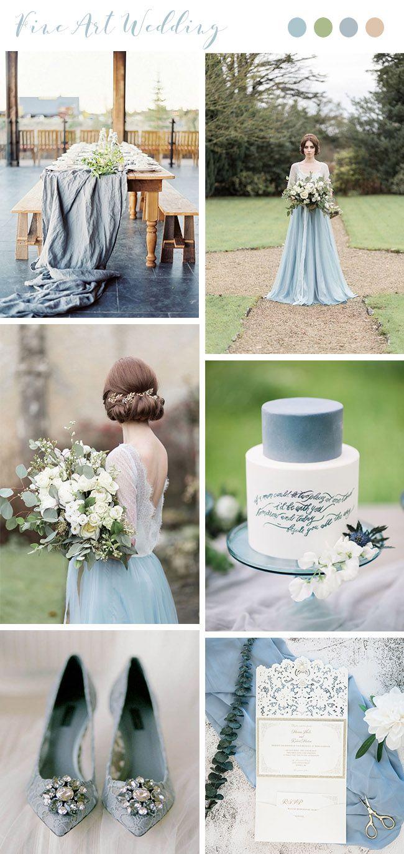 Pastel blue wedding decor  Trending Gorgeous Wedding Colors for Fine Art Brides  Parque