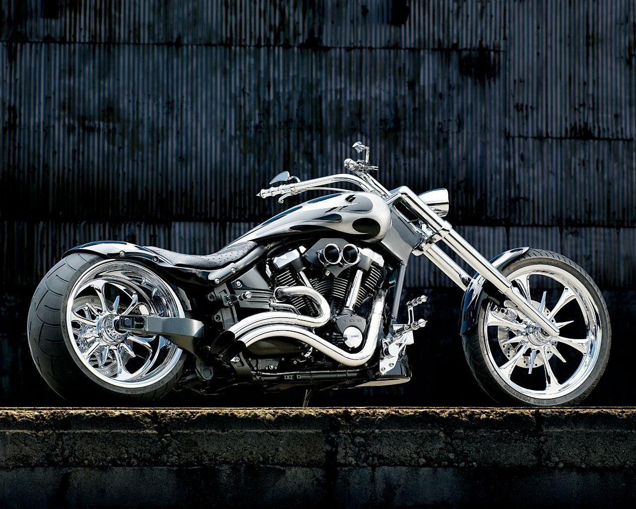 Motorcycle Wallpaper Desktop Backgrounds Chopper Yamaha