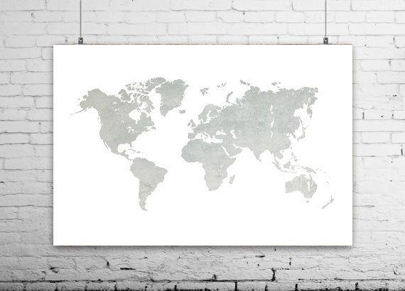 World Map Poster Wall Art Canvas World Map Print Large Wall World Map Art World Map Canvas Minimalist Art