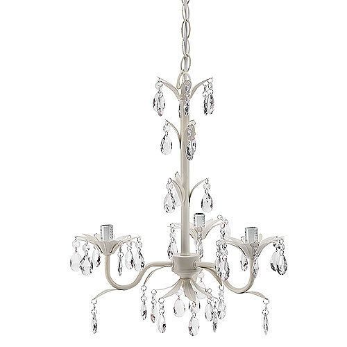 @Ruth Thompson Crystal Antique White Mini Chandelier Pendant for Girls Room  Nursery - Ruth Thompson Crystal Antique White Mini Chandelier Pendant For
