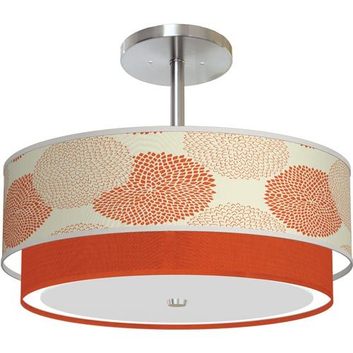 Mums orange drum pendant with 18 x 7 5 shade seascape lamps drum pendant lighting ceiling