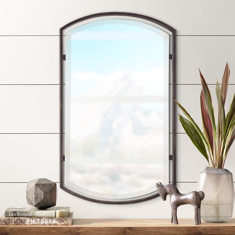 Quoizel Breckenridge Bronze 21 X 35 Frame Wall Mirror 8w402