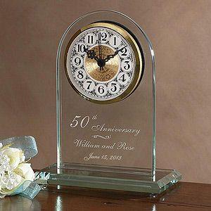 Everlasting Love Anniversary Clock Anniversary Clock Engraved Wedding 50th Anniversary Gifts
