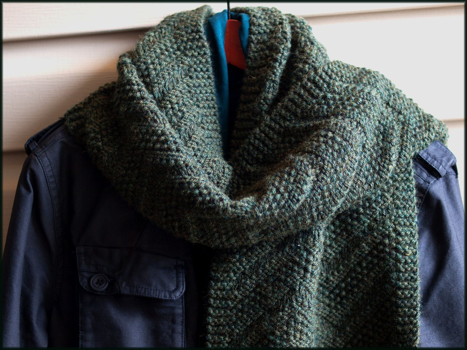 Beckenham Scarf Knitting Pattern, featuring a strongly graphical ...