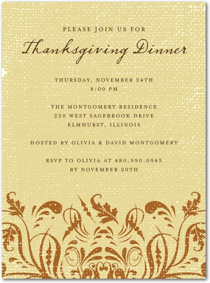 Thanksgiving party invitations, Timeless Harvest #invitation ...