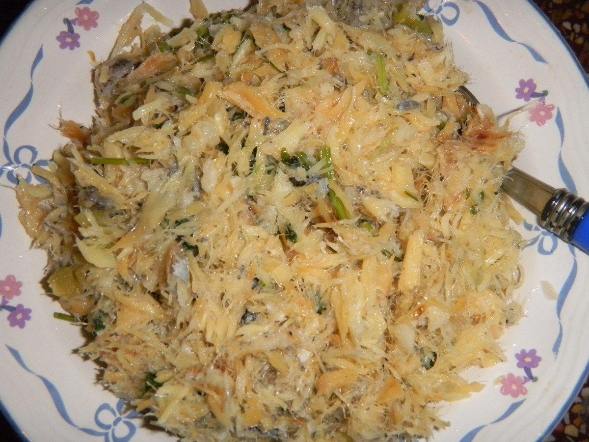 Chiquetaille de morue poissons pinterest haitian - Cuisiner la morue dessalee ...