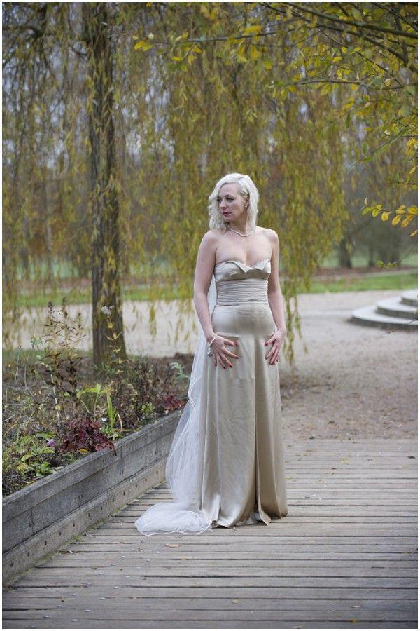 Vintage Valentino wedding dress at Palace of Versailles
